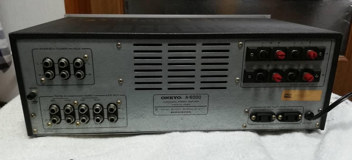 ONKYO プリメインアンプ A-6000 美品 動作品 整備品_画像6