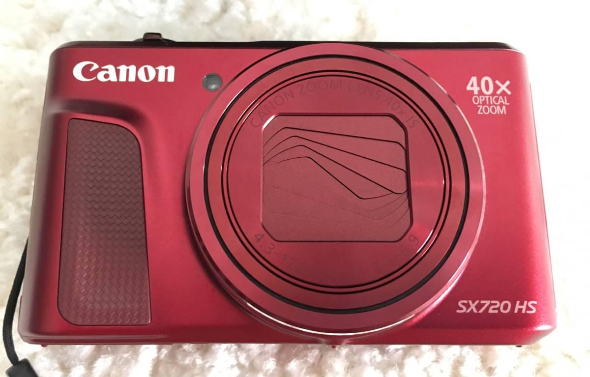 キャノン PowerShot SX720 HS 赤 数回しか使用してません☆1円スタート☆