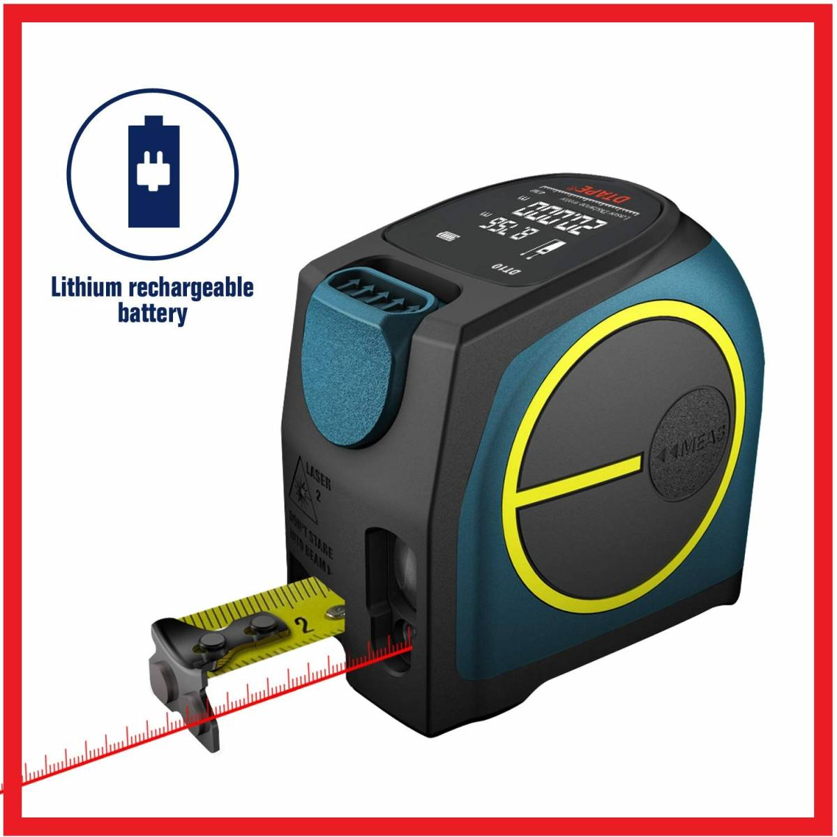 * new goods * unused * laser rangefinder maximum measurement distance 40M USB rechargeable color LCD display attaching tape measure laser rangefinder built-in distance space any two point measurement