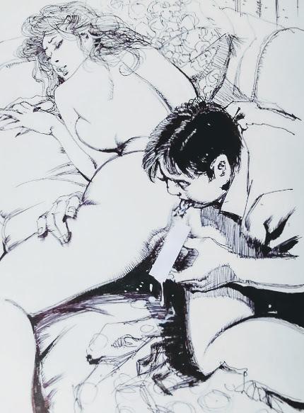 【直筆原画】前田寿安・SM誌挿絵Bの3【直筆原稿】肉筆画・官能小説挿絵(秘'97-8)_画像4