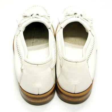 良品 JOHNSTON&MURPHY ジョンストン&マーフィー タッセルローファー USA製 白 ホワイト 26.5cm US8.5 ビンテージ アメリカ オールド 革靴_画像3