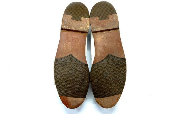 良品 JOHNSTON&MURPHY ジョンストン&マーフィー タッセルローファー USA製 白 ホワイト 26.5cm US8.5 ビンテージ アメリカ オールド 革靴_画像7