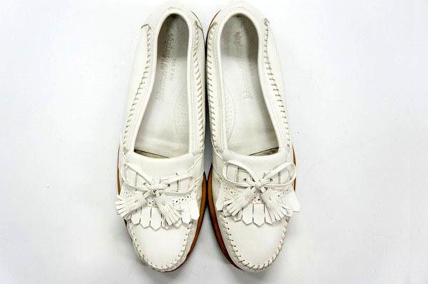 良品 JOHNSTON&MURPHY ジョンストン&マーフィー タッセルローファー USA製 白 ホワイト 26.5cm US8.5 ビンテージ アメリカ オールド 革靴_画像8