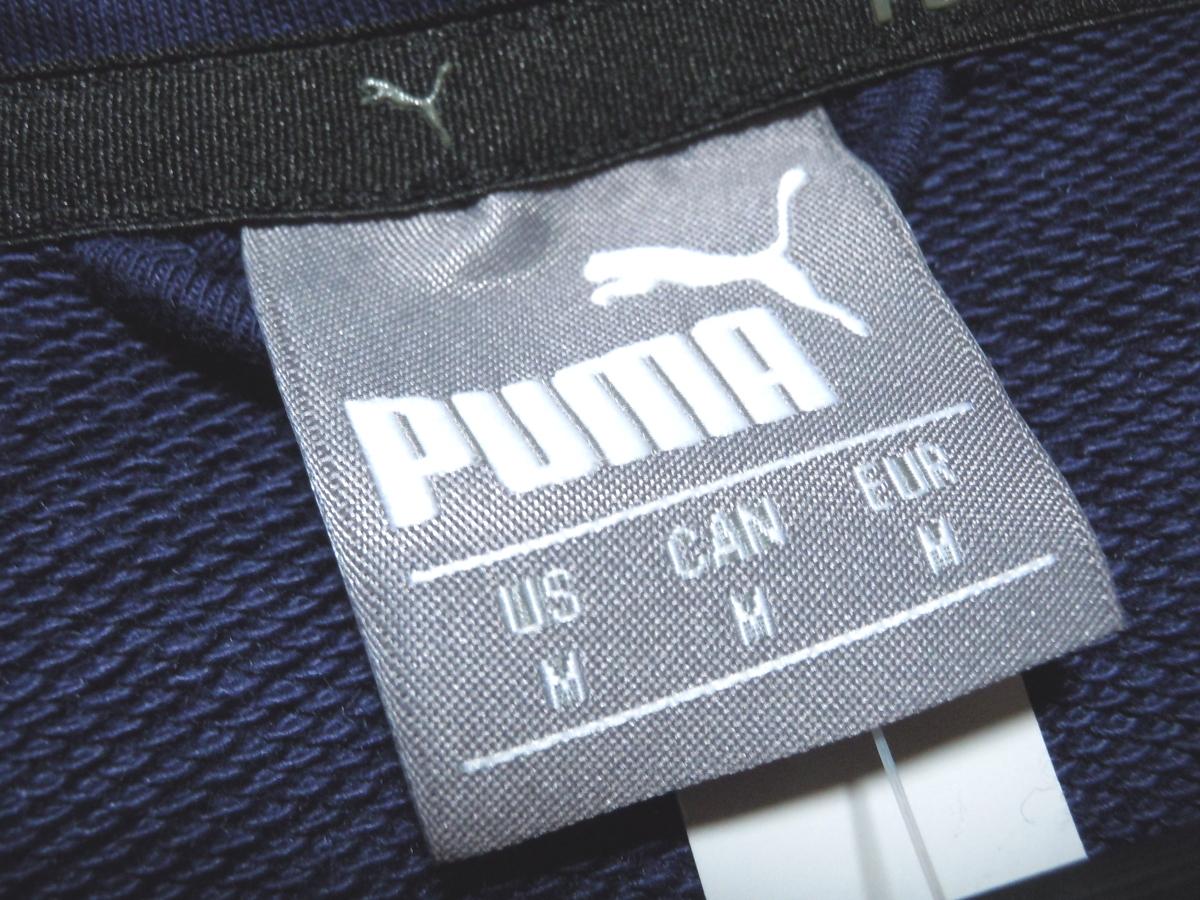 新品 プーマ スウェット ジップパーカー フロントビッグロゴ ネイビー 日本サイズL PUMA プーマジャパン_画像4