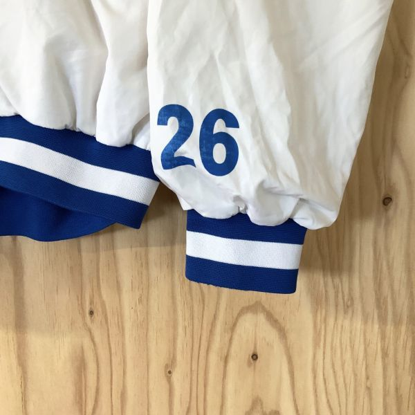激レア 入手困難 企業系 選手配布品 日立製作所 HITACHI ソフトボール部 実使用 #26 ハーフジップ ナイロンジャケット 大きいサイズ XO_画像4