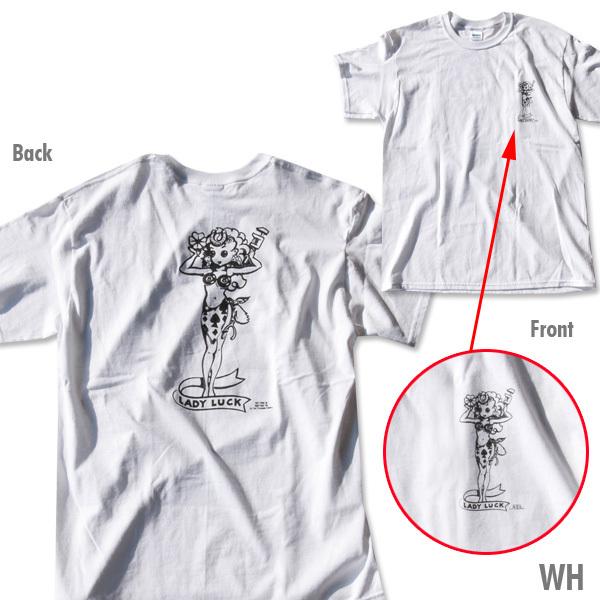 XLサイズ Lady Luck 188円発送可 レディーラック ホワイト 白 Tシャツ ムーンアイズ mooneyes Rat Fink ラットフィンク 好きの方に_画像2