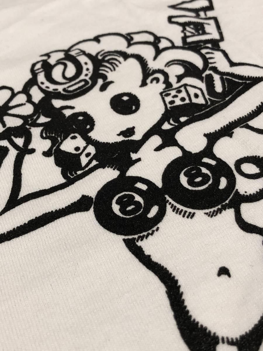 XLサイズ Lady Luck 188円発送可 レディーラック ホワイト 白 Tシャツ ムーンアイズ mooneyes Rat Fink ラットフィンク 好きの方に_画像7