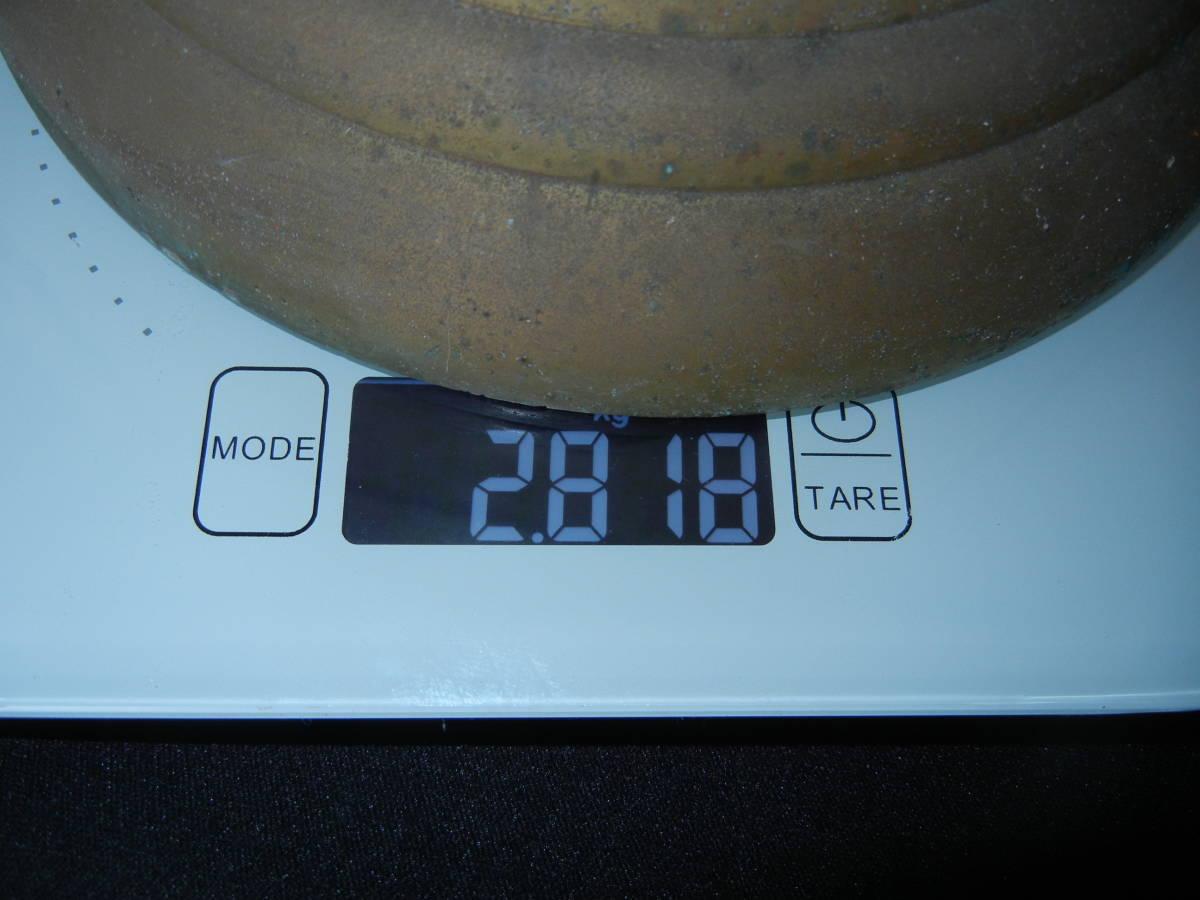 幸せの鐘 真鍮製か銅製 合図鐘 始まりを知らせる鐘 青錆あり_画像10