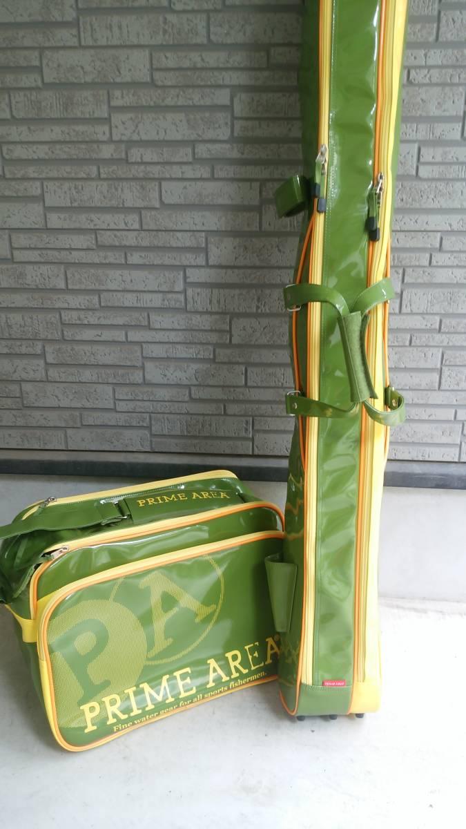 プライムエリア へらバック&ロッドケース PA-05 オリーブ 美品!!_画像3