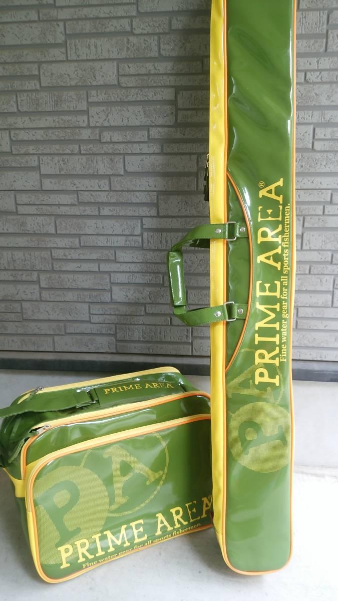 プライムエリア へらバック&ロッドケース PA-05 オリーブ 美品!!_画像2