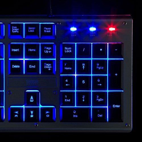 サンワサプライ バックライト機能付きキーボード USB-A メンブレン 109キー/日本語109A配列 SKB-WAR3_画像10