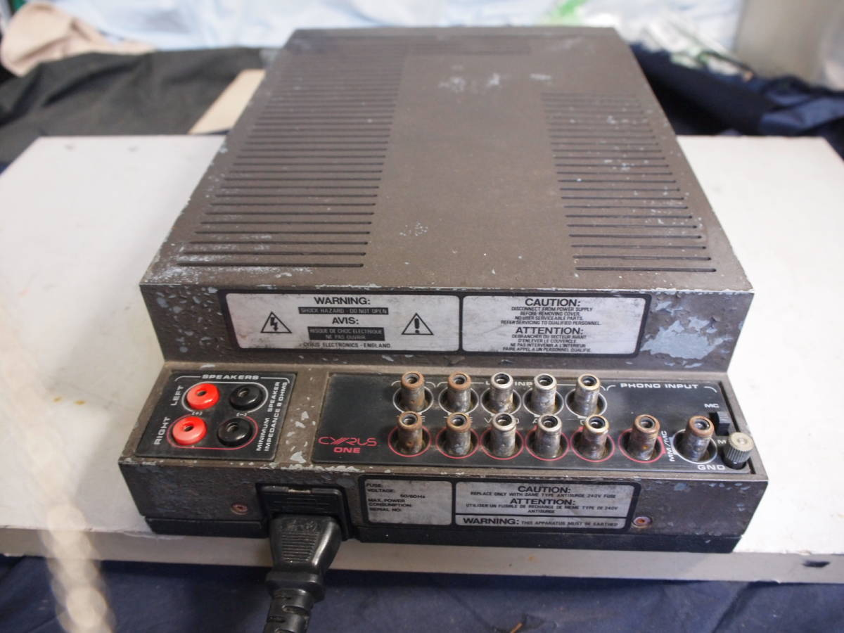 exterior Junk MM MC attaching pre-main amplifier Mission Cyrus 2 working properly goods [3 months guarantee ]90927
