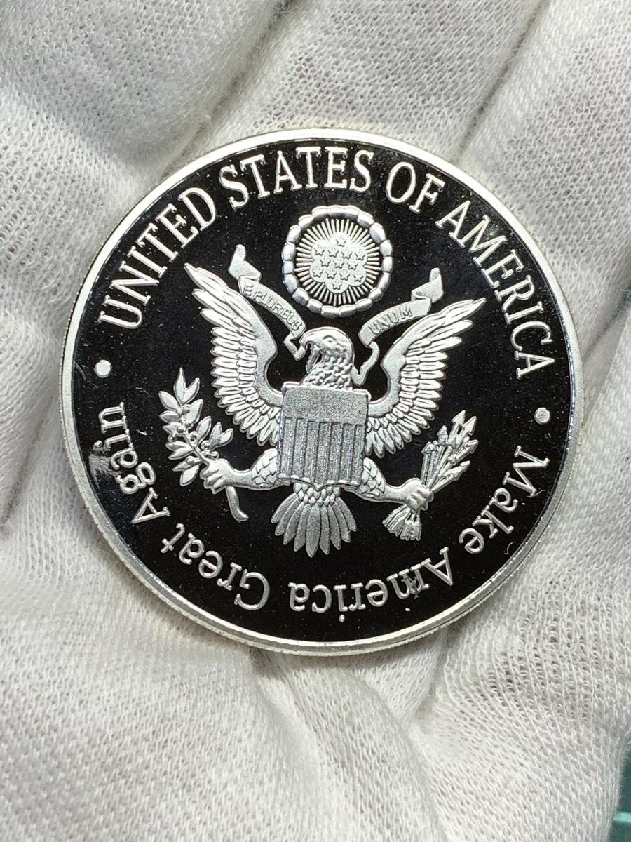 【Ωコイン】マイケル・ジャクソン Michael Jackson メダルグッズ 記念コイン シルバー色仕上げメッキ アメリカ l35_画像5
