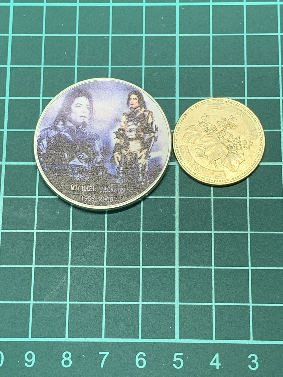 【Ωコイン】マイケル・ジャクソン Michael Jackson メダルグッズ 記念コイン シルバー色仕上げメッキ アメリカ l35_画像6