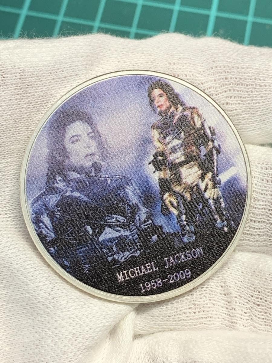 【Ωコイン】マイケル・ジャクソン Michael Jackson メダルグッズ 記念コイン シルバー色仕上げメッキ アメリカ l35_画像4