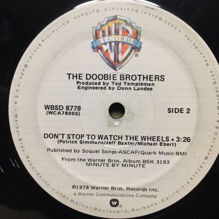12' THE DOOBIE BROTHERS / WHAT A FOOL BELIEVES ※ ジャンク_画像2