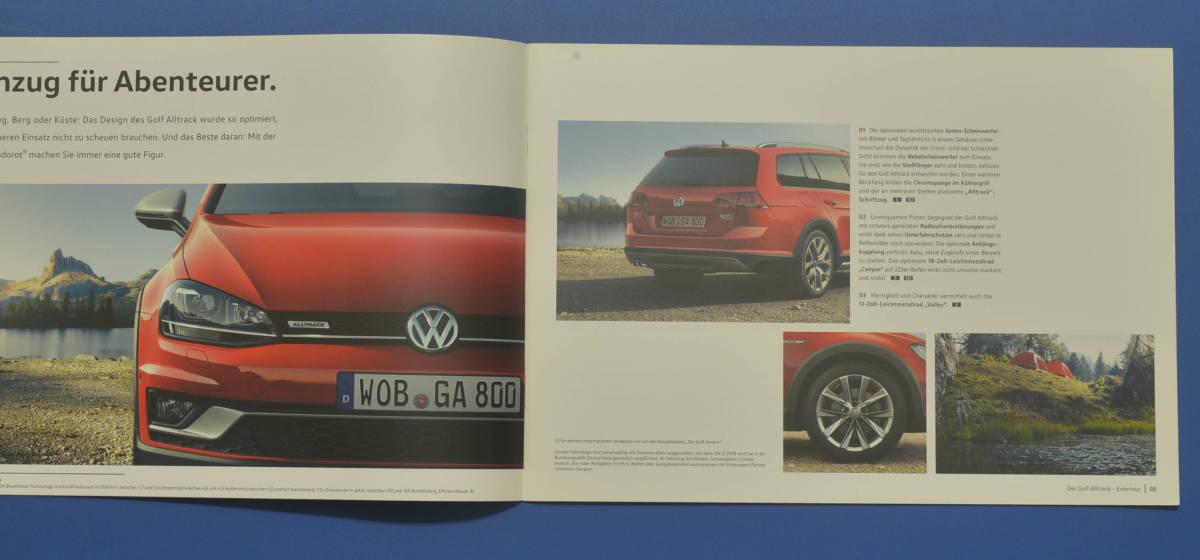 VW フォルクスワーゲン ゴルフ Volkswagen GOLF ドイツ版カタログ 2015年10月 ドイツ語カタログ 送料無料 希少品 美品 I02_画像3