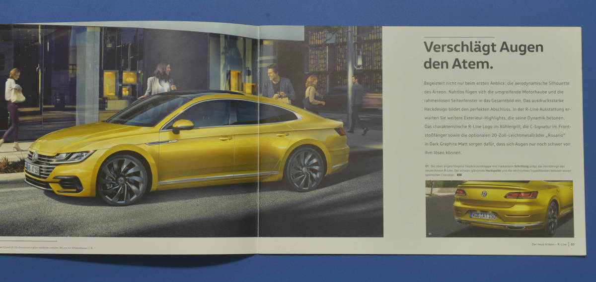 VW フォルクスワーゲン アルテノン Volkswagen Arteon 2017年3月 ドイツ版カタログ ドイツ語表記 送料無料 希少品 美品 I02_画像2