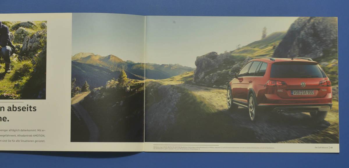 VW フォルクスワーゲン ゴルフ Volkswagen GOLF ドイツ版カタログ 2015年10月 ドイツ語カタログ 送料無料 希少品 美品 I02_画像2