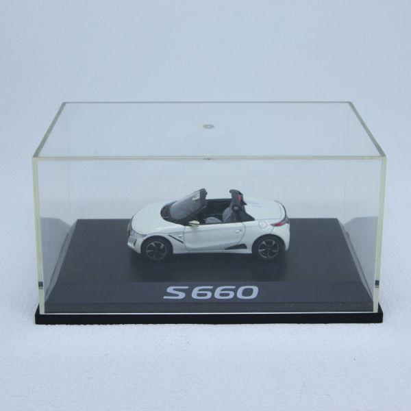 レア 希少 ミニカーHONDA ホンダ S660 ホワイト カラーサンプル 1/43_画像1