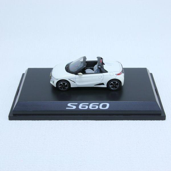 レア 希少 ミニカーHONDA ホンダ S660 ホワイト カラーサンプル 1/43_画像2