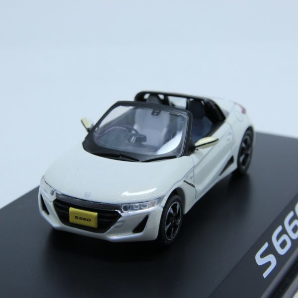 レア 希少 ミニカーHONDA ホンダ S660 ホワイト カラーサンプル 1/43_画像3