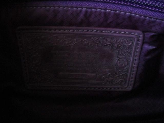 ◆本物 ハンティングワールド パープル ナイロン斜め掛けショルダーバック 美品◆_画像3