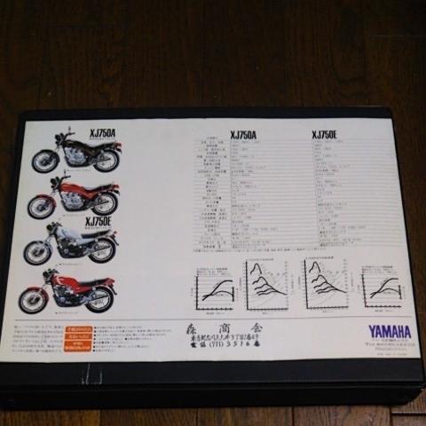 ヤマハ XJ750A XJ750E カタログ 1981年 _画像7