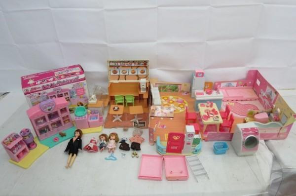 KZ83A 1円~ リカちゃんハウス 人形 家具 洋服 おもちゃ まとめて 大量セット ドーナツショップ ペットショップ TAKARA