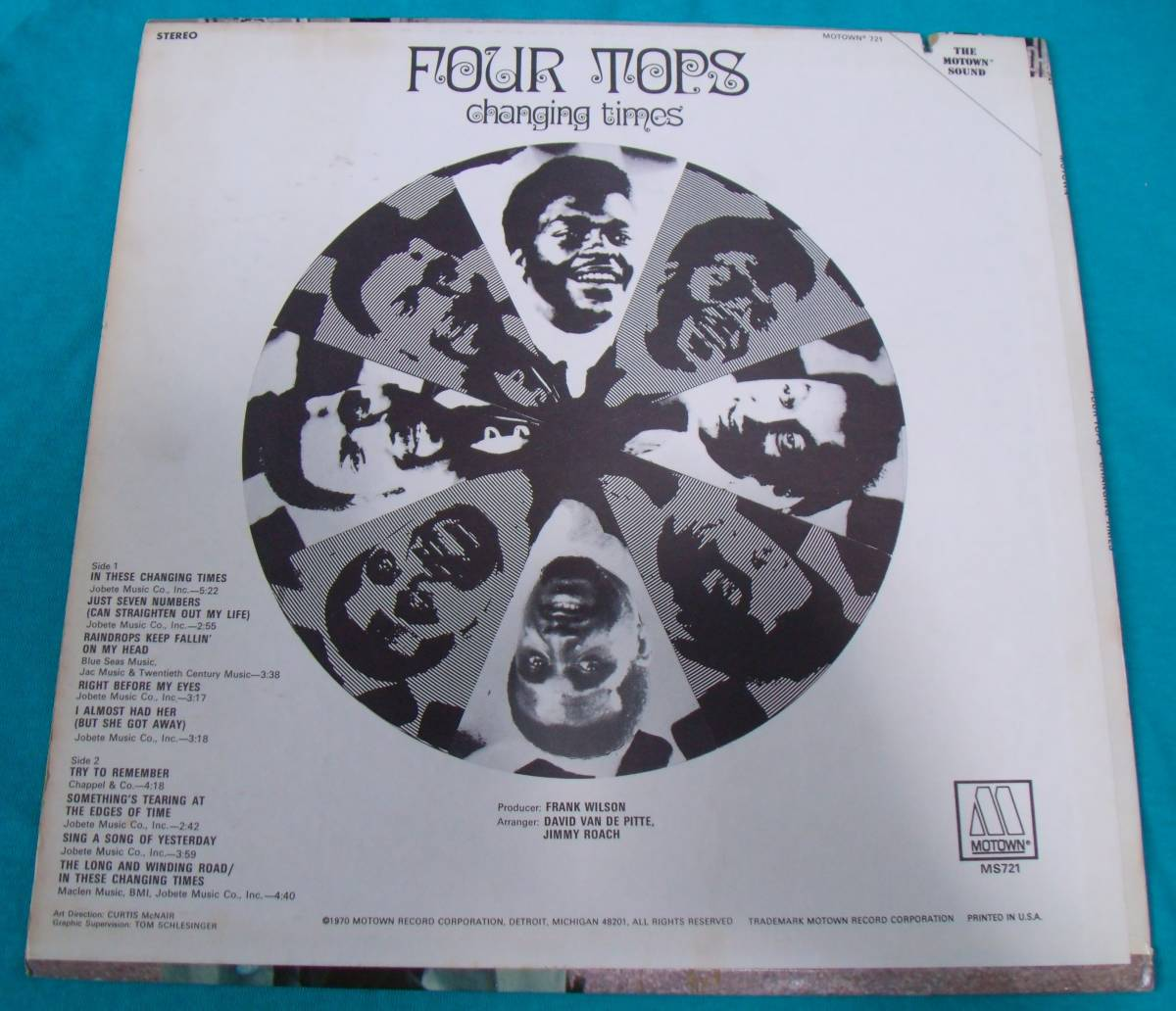 LP●Four Tops / Changing Times US盤M721_画像2
