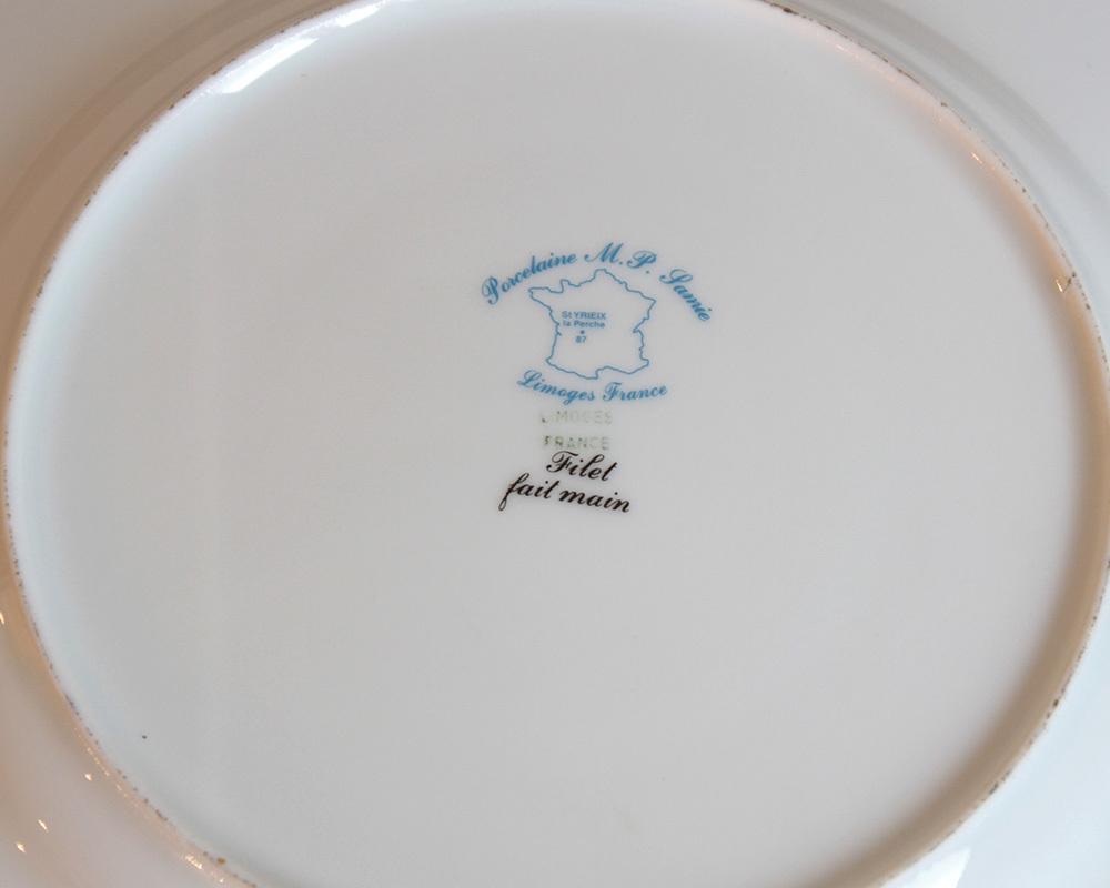 jf00655 仏国*フランスアンティーク*食器 絵皿 ピクチャープレート クリスマスギフト ディスプレイ LIMOGES リモージュ 陶器 飾り皿_画像7