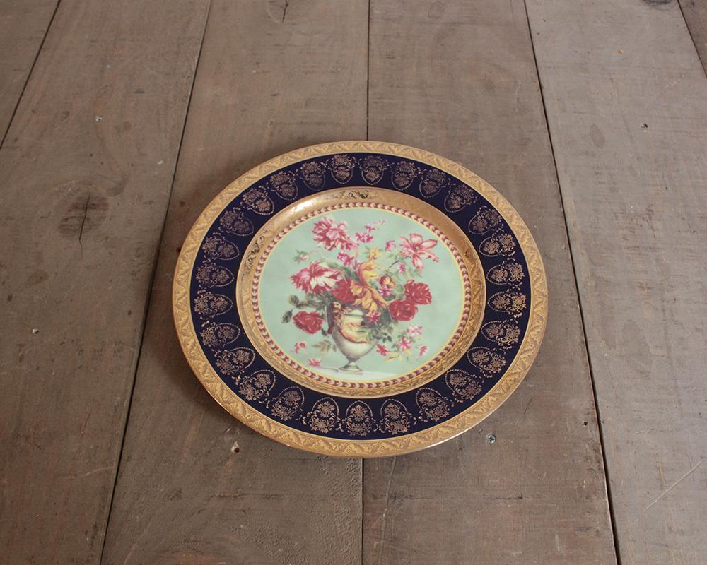 jf00655 仏国*フランスアンティーク*食器 絵皿 ピクチャープレート クリスマスギフト ディスプレイ LIMOGES リモージュ 陶器 飾り皿_画像3