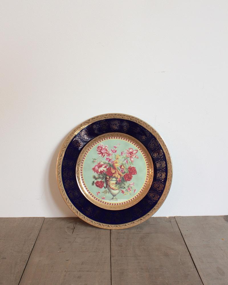 jf00655 仏国*フランスアンティーク*食器 絵皿 ピクチャープレート クリスマスギフト ディスプレイ LIMOGES リモージュ 陶器 飾り皿_画像2