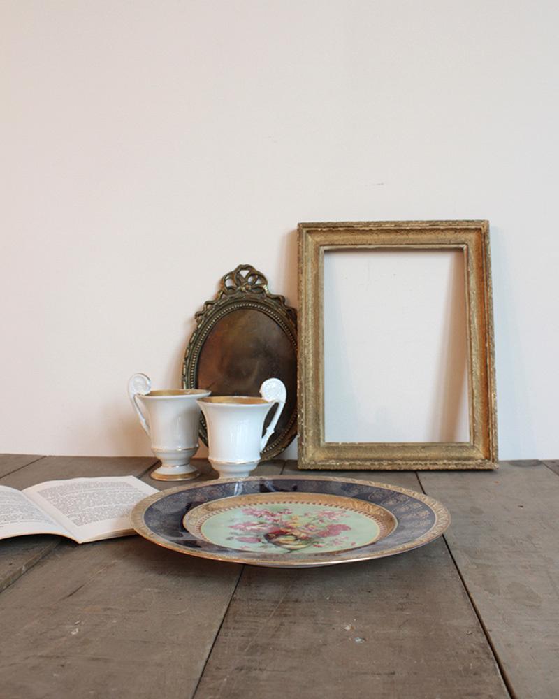 jf00655 仏国*フランスアンティーク*食器 絵皿 ピクチャープレート クリスマスギフト ディスプレイ LIMOGES リモージュ 陶器 飾り皿_画像8