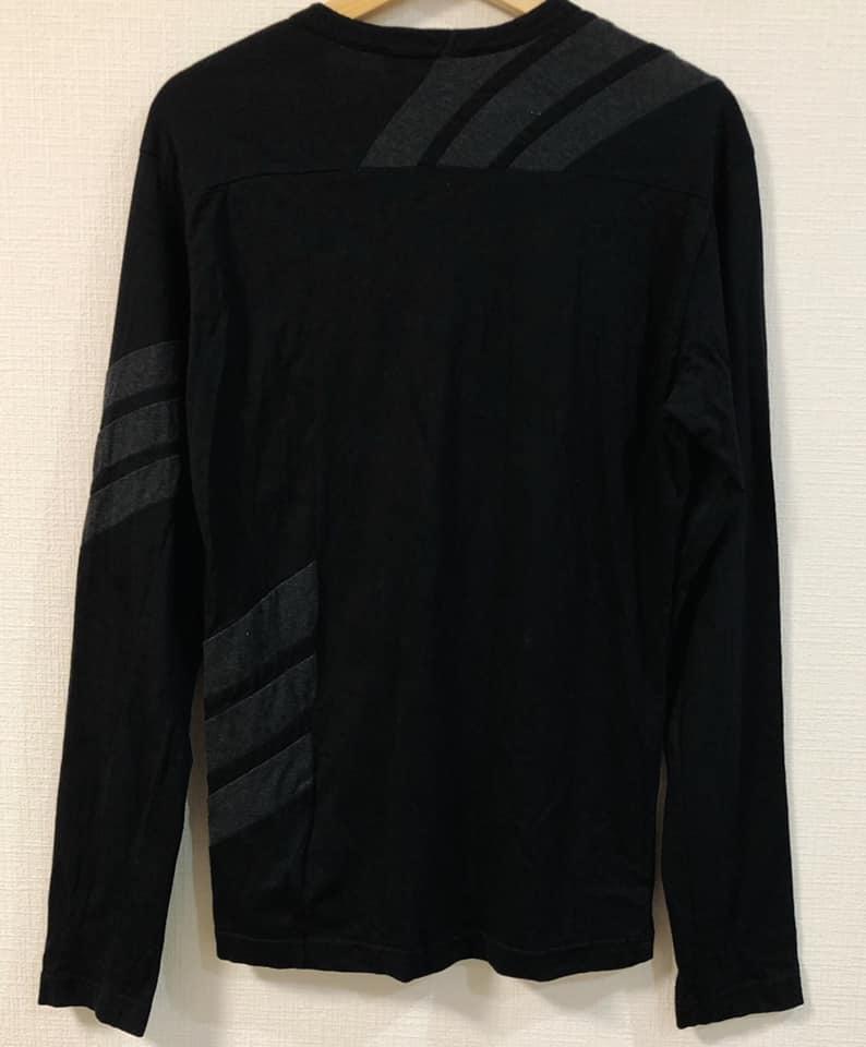 美品 Y-3 ワイスリー × adidas アディダス ロング Tシャツ 黒 サイズS Yohji Yamamoto ヨウジヤマモト カットソー 長袖_画像2