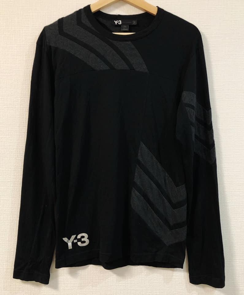 美品 Y-3 ワイスリー × adidas アディダス ロング Tシャツ 黒 サイズS Yohji Yamamoto ヨウジヤマモト カットソー 長袖_画像1