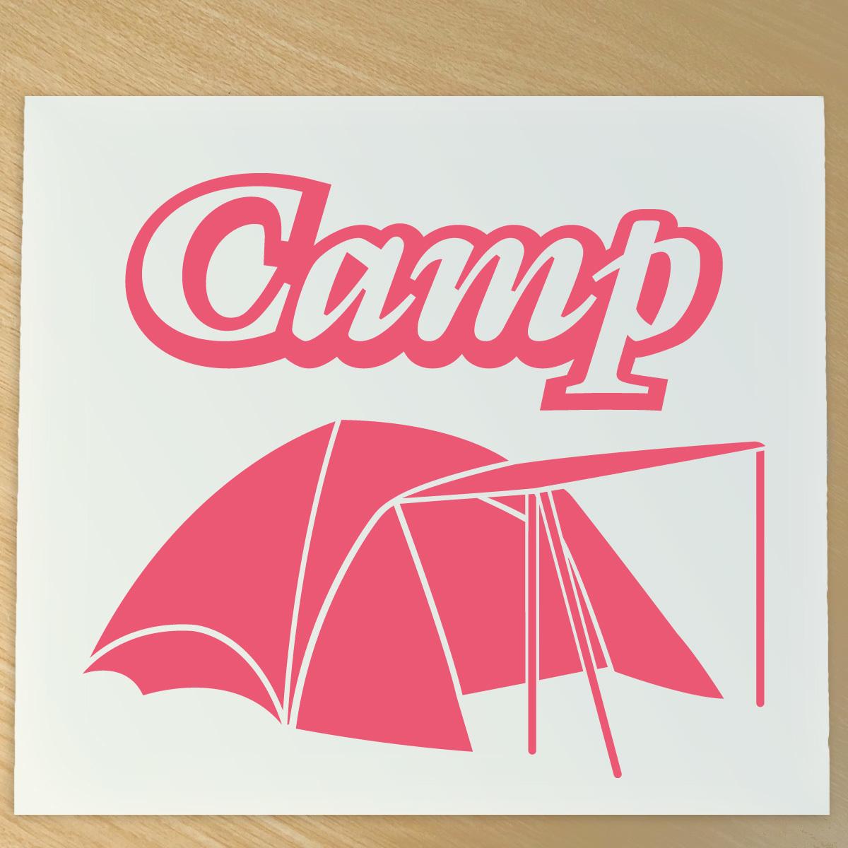 ●キャンプ  キャンパー ステッカー テントイラスト NO626F_画像1