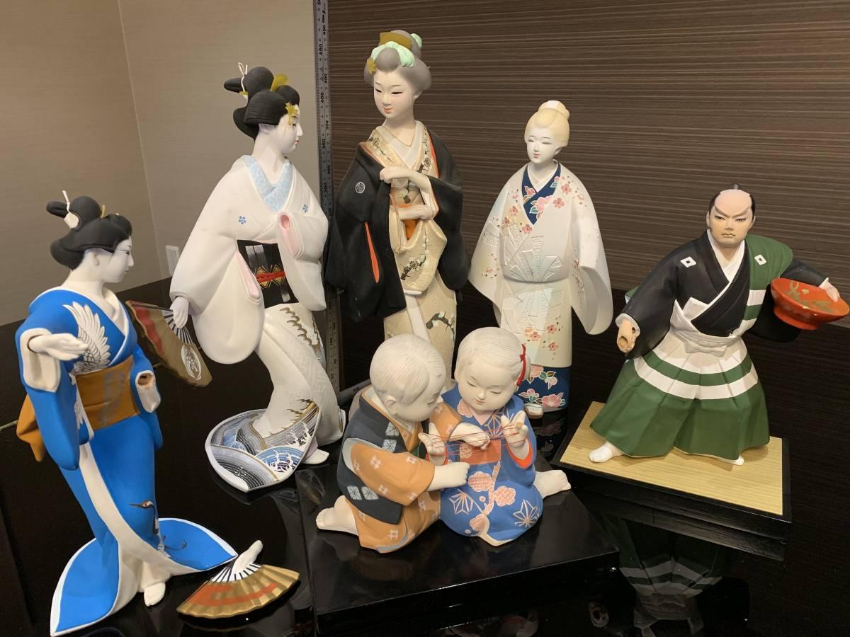 日本人形 博多人形だと思います 「行春」他、おまとめ 欠損・ダメージ有ります <ジャンク>