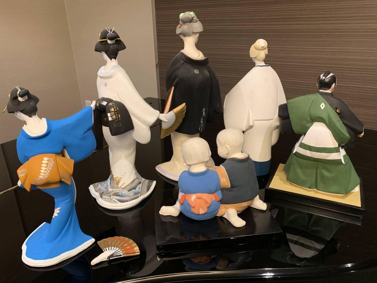 日本人形 博多人形だと思います 「行春」他、おまとめ 欠損・ダメージ有ります <ジャンク>_画像2