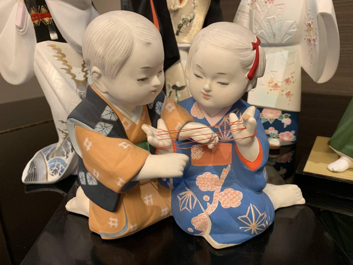 日本人形 博多人形だと思います 「行春」他、おまとめ 欠損・ダメージ有ります <ジャンク>_画像8