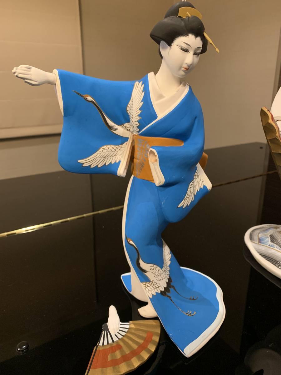 日本人形 博多人形だと思います 「行春」他、おまとめ 欠損・ダメージ有ります <ジャンク>_画像3