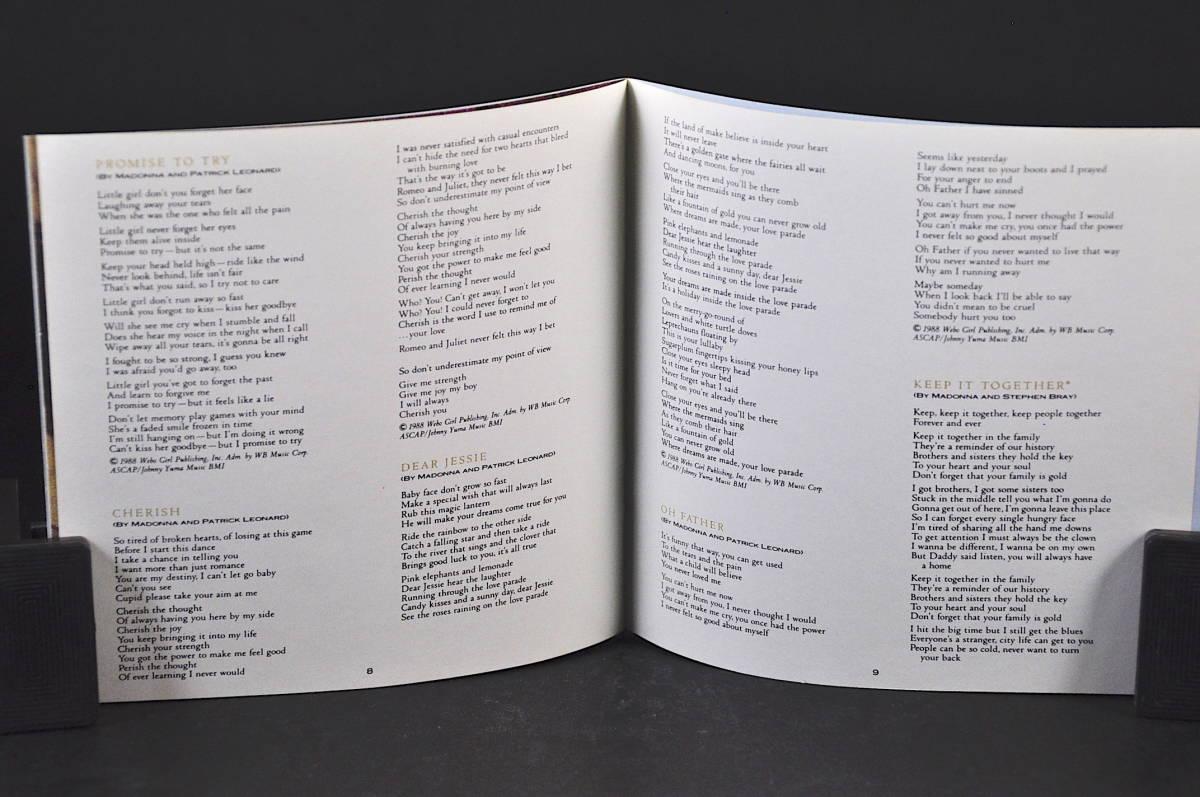 ☆☆☆ MADONNA LIKE A PRAYER / マドンナ ライク・ア・プレイヤー 89年盤 11曲収録 CD アルバムUS輸入盤Sire 9 25844-2 美盤!! ☆☆☆_画像8