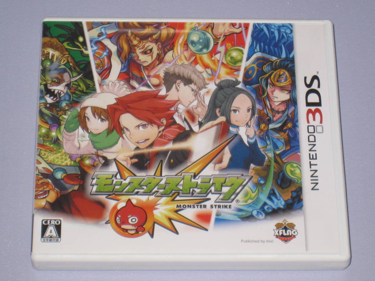 3DS モンスターストライク 特典ステッカー 火之夜藝速男神 カグツチ ディスク付 _画像1