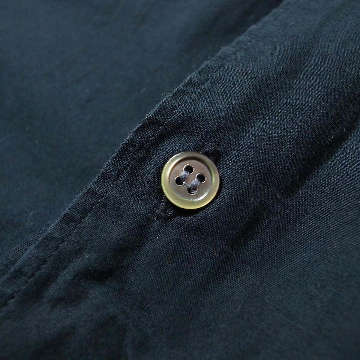 90s COMME des GARCONS HOMME コムデギャルソン オム 長袖 シャツ 黒 無地 / ビッグシルエット ブランド古着 アーカイブ_画像5