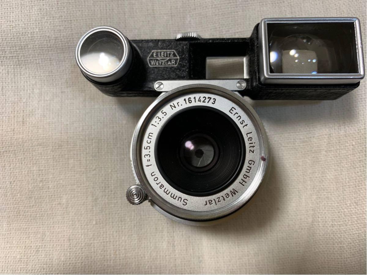 ライカ Leica Mマウント レンズ ズマロン Summaron 35㎜ F3.5 メガネ 付き