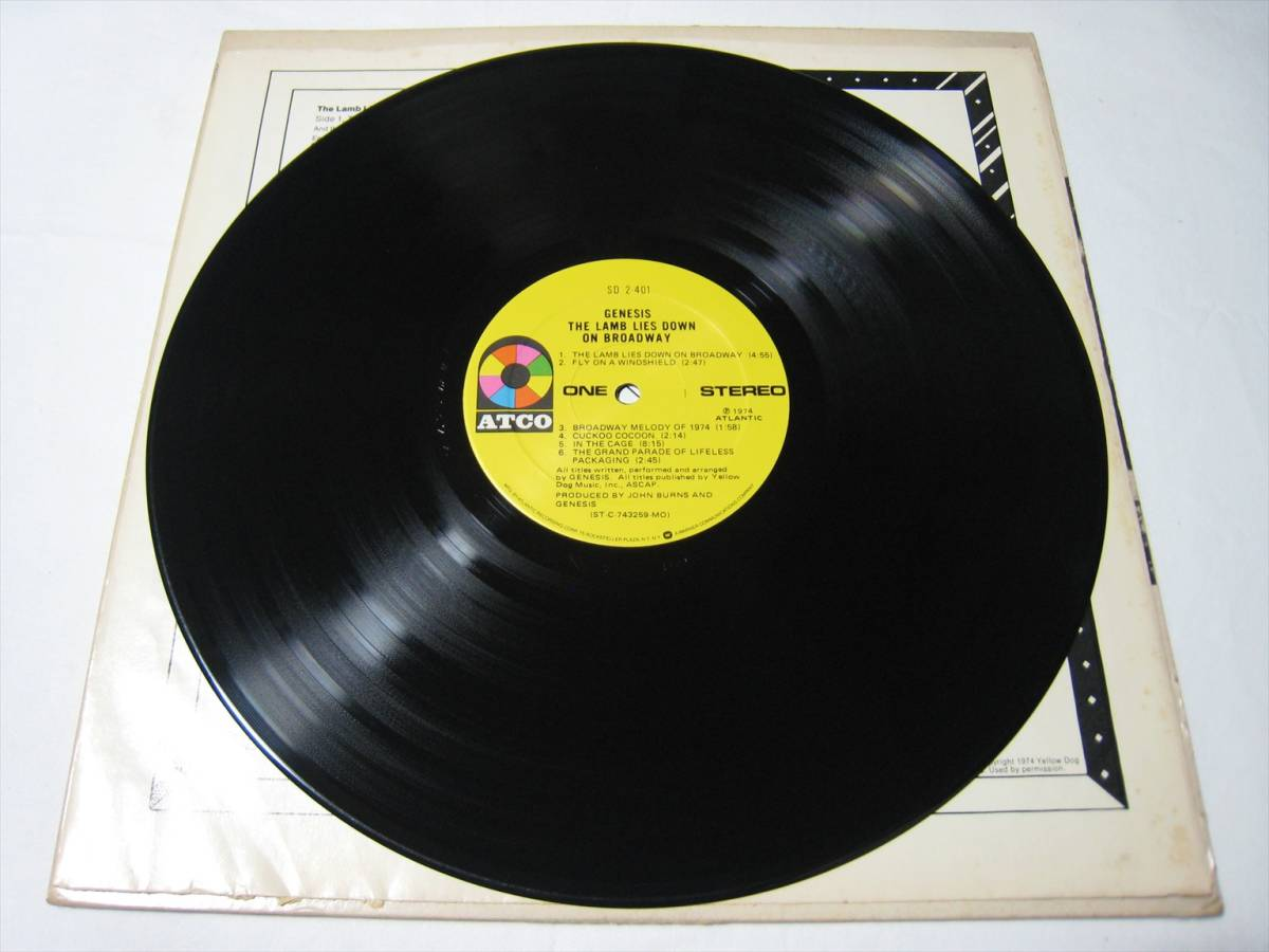 【LP】 GENESIS / THE LAMB LIES DOWN ON BROADWAY US盤 ジェネシス 眩惑のブロードウェイ_画像6