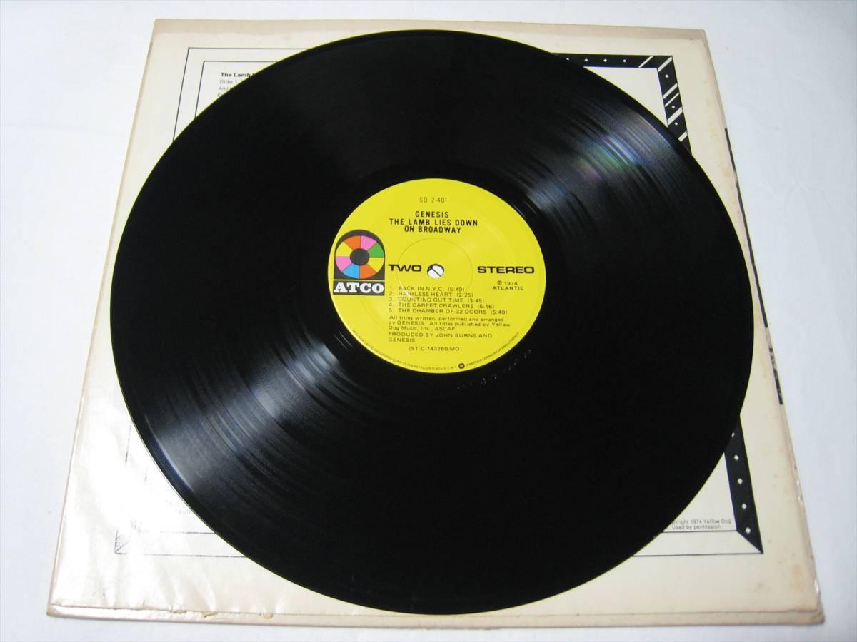 【LP】 GENESIS / THE LAMB LIES DOWN ON BROADWAY US盤 ジェネシス 眩惑のブロードウェイ_画像7