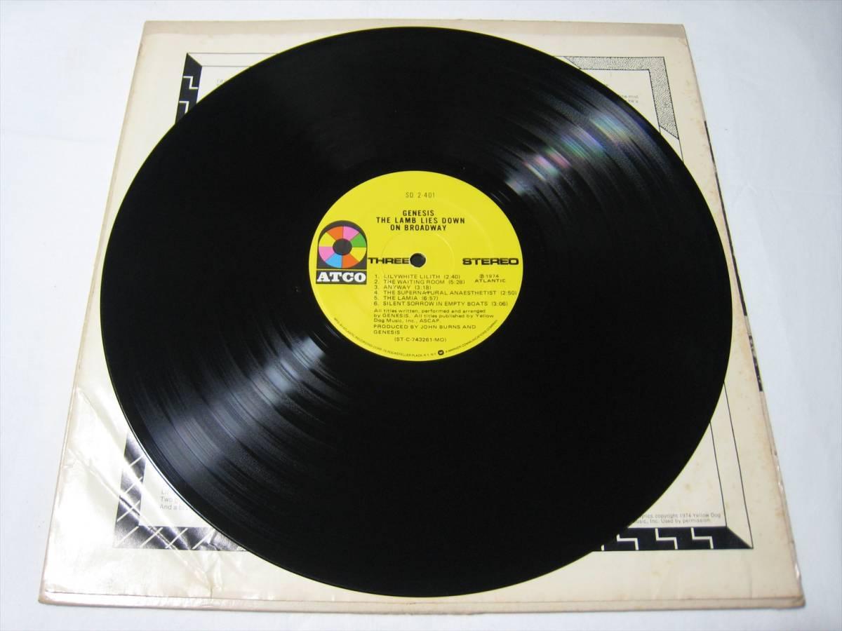 【LP】 GENESIS / THE LAMB LIES DOWN ON BROADWAY US盤 ジェネシス 眩惑のブロードウェイ_画像9