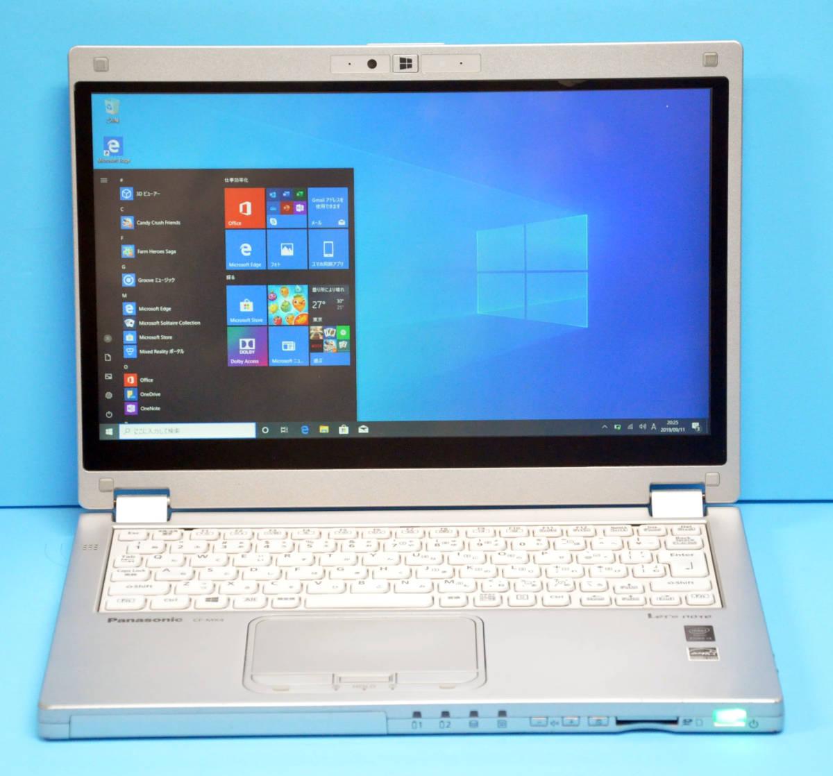 ♪ 良品 使用時間2000H ♪ フルHD タッチパネル Panasonic CF-MX4 Corei3 5010U / メモリ 4GB / SSD128GB / カメラ / Office2016 / Win10_画像7