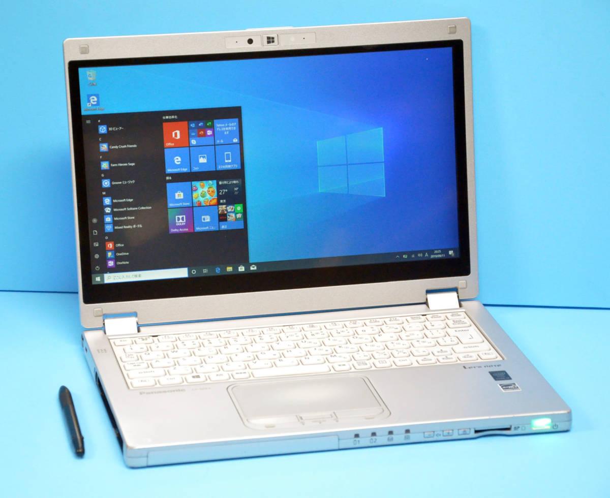 ♪ 良品 使用時間2000H ♪ フルHD タッチパネル Panasonic CF-MX4 Corei3 5010U / メモリ 4GB / SSD128GB / カメラ / Office2016 / Win10